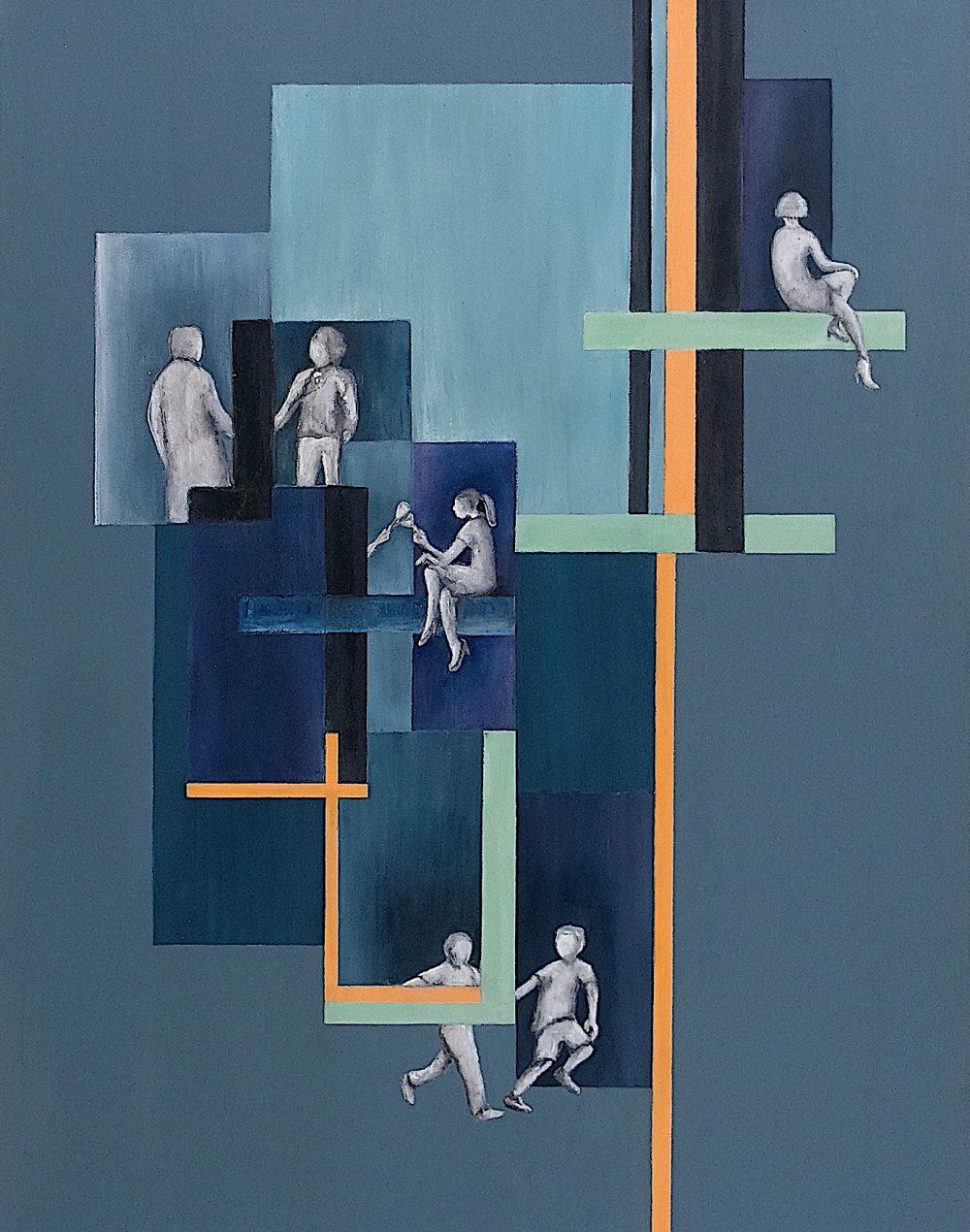 Walls between - 50 cm X 70 cm Acrylic Painting